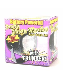 Forum Halloween Spooky Thunder Sound Effects Mega Strobe, Black