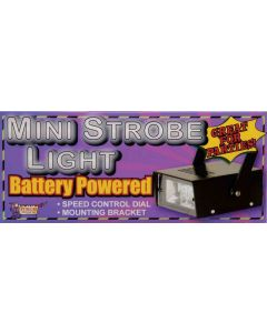 "Forum Halloween Lighting Battery Operated Mini 6"" Strobe, Black"