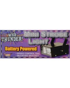 Forum Halloween Battery Operated Mini Strobe Light with Thunder, Black