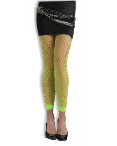 Forum Christmas Bright Neon Fishnet Stockings, Lime Green, One-Size