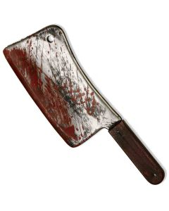 Forum Halloween Evil Clown Sinister Horror Cleaver Knife, Grey Red, 16""
