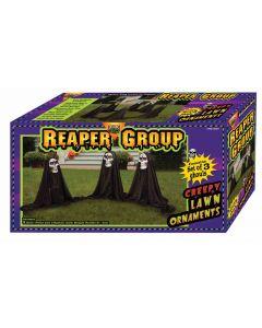 "Forum Halloween Decoration Reaper Group 3pc 21"" Outdoor Prop, Black White"
