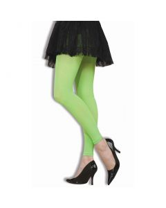 Forum Halloween 1980's Neon Legging Tights, Lime Green, One-Size