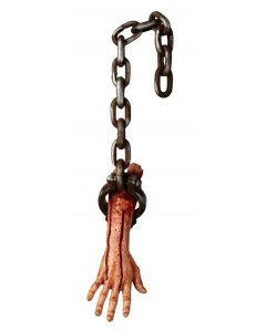 "Forum Halloween Gory Hanging Bloody Arm Decoration 13"" Prop, Grey Beige"