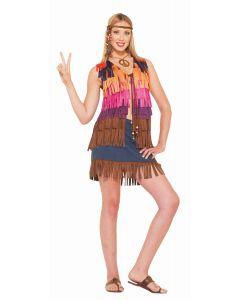 Colorful Faux Suede Vest