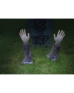 "Forum Rising Zombie Arm Halloween Decoration 2pc 14"" Outdoor Prop"
