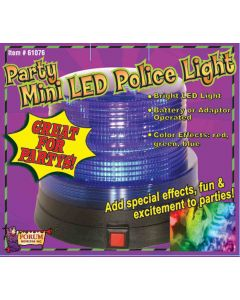 "Forum Halloween Mini LED Multicolored Police 4.25"" Light Fixture, Red"