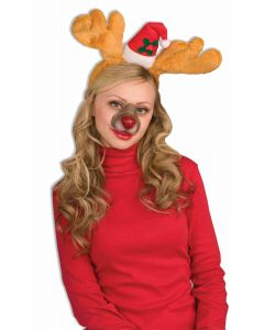 Forum Christmas Rudolph the Red Nosed Reindeer Nose, Brown Red, One-Size