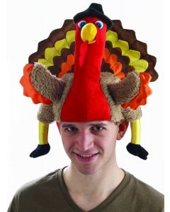 Forum Thanksgiving Hilarious Turkey Costume Hat, Red Brown, One-Size