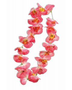 Forum Hawaiian Luau Summer Party Flower Petal Fabric Lei, Pink Orange, One-Size