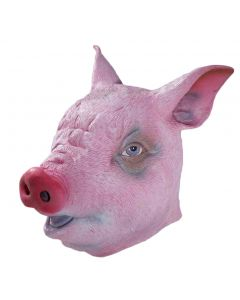 Forum Halloween Cosplay Deluxe Farmyard Pig Latex Mask, Pink, One-Size