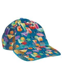 Forum Summer Hawaiian Beverage Luau Party Hat, Blue Multi, One-Size