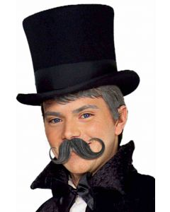Forum Old-Fashioned Handlebar Costume Moustache, Black, One-Size