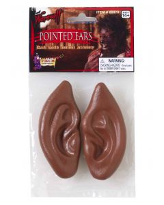Forum Pointed Werewolf Halloween Accessory Ears, Brown, One-Size 3.5""