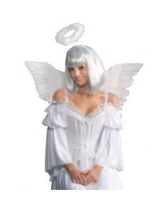 Forum Angel Feather Heavenly Holiday Costume Wings, White, One-Size 19.5""