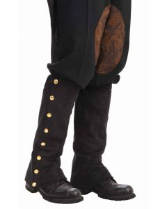 Forum Santa Holiday Gentleman Suede Boot Cover Spats, Black, One-Size