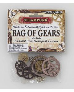 Forum Steampunk Bag Of Gears 20pc Costume Accessory, Bronze Silver, One-Size