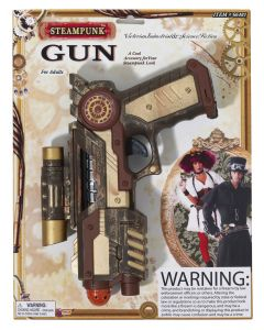 Forum Halloween Cosplay Steampunk Weapon Gear Space Gun, Brown Tan, 8.5""