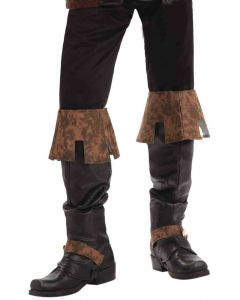 Forum Renaissance Pirate Steampunk Costume Boot Covers, Brown, Adult Size