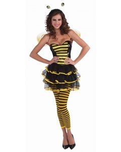 Forum Halloween Sexy Bumble Bee Striped Leggings, Yellow Black, One-Size