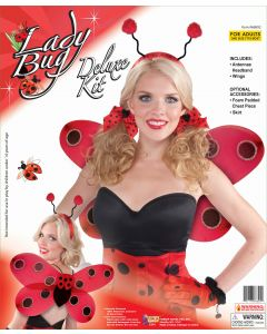 Forum Halloween Sexy Ladybug Wings & Antennae 2pc Accessory Kit, Red Black