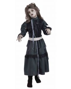 Forum Halloween Cosplay Dark Zombie Girl 2pc Child Costume, Black, Large 12-14