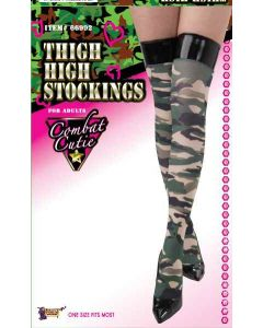 Forum Sexy Halloween Cosplay Camo Combat Cutie Thigh-Highs, One-Size