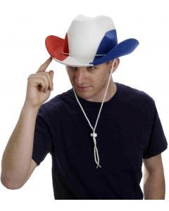 Forum Patriotic Fourth of July Cowboy Hat, Red Blue White, One-Size