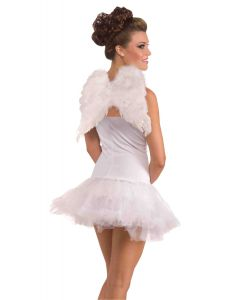 """Forum Women Petite Club Feather Angel Holiday Costume Wings, White, One-Size 16"""""""