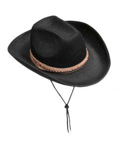 Forum Adult Felt Halloween Costume Cowboy Hat, Black, One-Size