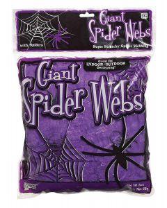 Forum Halloween Decoration Giant Purple Spider Web 20 oz Hanging Decor, Purple