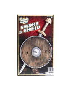 Forum Halloween Child Viking Shield & Sword 2pc Play Weapon Set, 15""