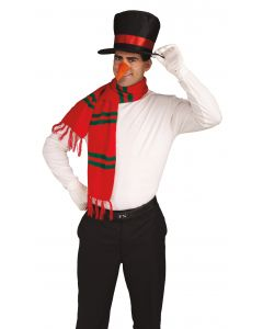 Forum Snowman Costume Kit 3pc Costume Accessory Set, Red Black Orange, One-Size