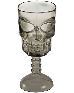 Forum Clear Skull & Spine Goblet Halloween 4.2 oz Party Cup, Transparent