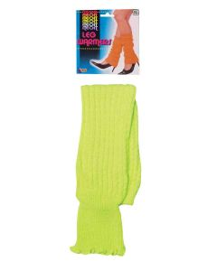Forum Christmas Festive Bright Neon Party 2pc Leg Warmers, Green, One-Size