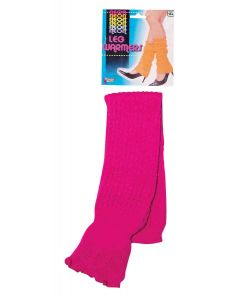 Forum Halloween Cosplay Neon Rave Club Party 2pc Leg Warmers, Pink, One-Size