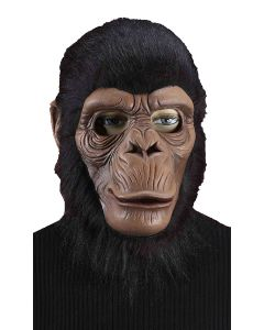 Forum Chimpanzee Latex Full Costume Over Head Mask, Brown, One-Size