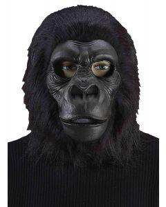 Forum Gorilla Latex Full Costume Over Head Mask, Black, One-Size