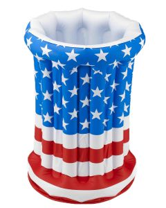 "Forum Patriotic Large 24"" Inflatable Drink Cooler, Red White Blue"