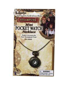 Forum Steampunk Metal Necklace Working Costume Pocket Watch, Bronze, One-Size