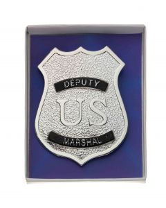 Forum Halloween Cosplay Deputy US Marshal Boxed Costume Badge, Silver, 3""