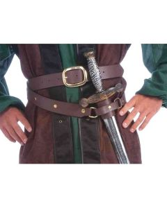 Forum Medieval Double Wrap Belt/Scabbard 2pc Costume Belt, Brown, One-Size