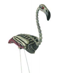 """Forum Zombie Flamingo Halloween 28"""" Outdoor Prop, Off-White Black"""