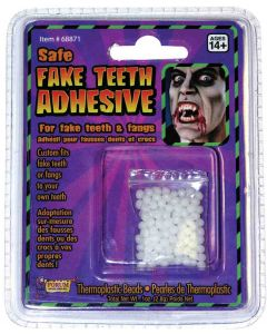 Forum Halloween Cosplay Thermoplastic Teeth Replacement 1oz Adhesive, Clear