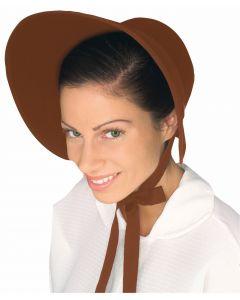 Forum Handmaid Fancy Felt Hat Costume Bonnet, Brown, One-Size