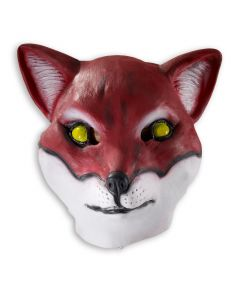 Forum Deluxe Red Fox Costume Animal Overhead Latex Mask, Red, One-Size