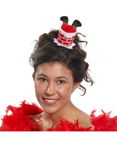 """Forum Upside Down Santa in Chimney Hair Clip, Red White, One-Size 4"""""""