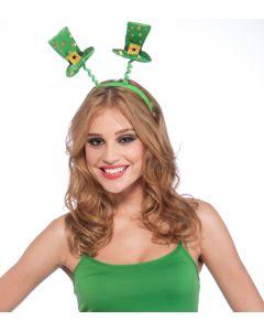 Forum St. Patrick's Shamrocks Top Hat Headband Boppers, Green Gold, One-Size 14+