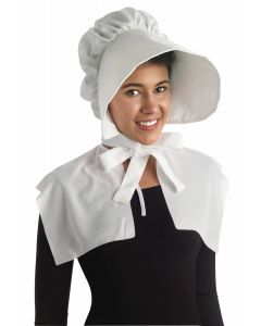 Forum Handmaid Fancy Felt Hat Costume Bonnet, White, One-Size