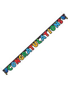 Congratulations Graduation Hanging Decoration 7' Jointed Banner, Multi